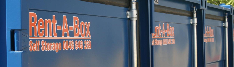 Containers de stockages maritime Rent-A-Box bleu